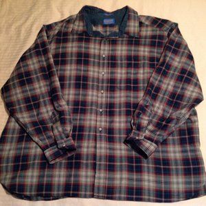 Pendleton Men's Button Down 100% Wool 4X Flawless!